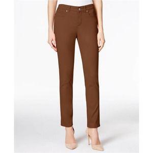 Cognac Bristol Skinny Ankle Jeans 2P